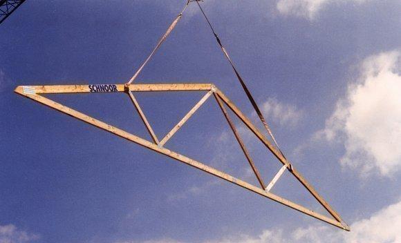 Satteldachbinder von SCHNOOR für eine Dachkonstruktion