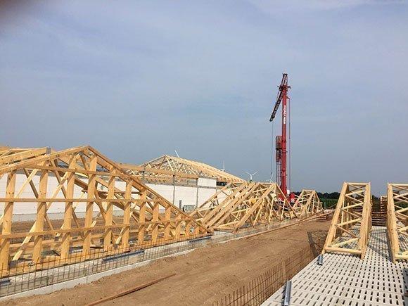 Dachkonstruktion mit besonderen Brandschutzanforderungen Silberstedt 1