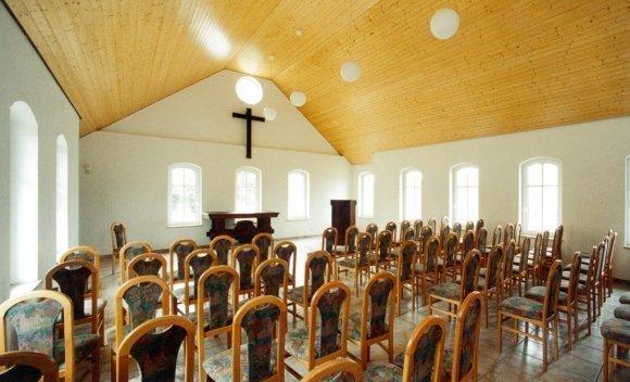 Dachkonstruktion mit Satteldach von SCHNOOR – Kirche in Königsborn 2