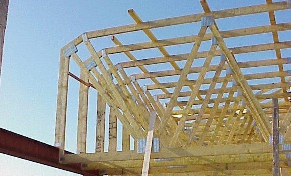 Verbrauchermarkt in Hamm   Nagelplattenbinder Dachkonstruktion