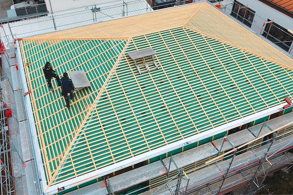 flache dachkonstrukion in giessen