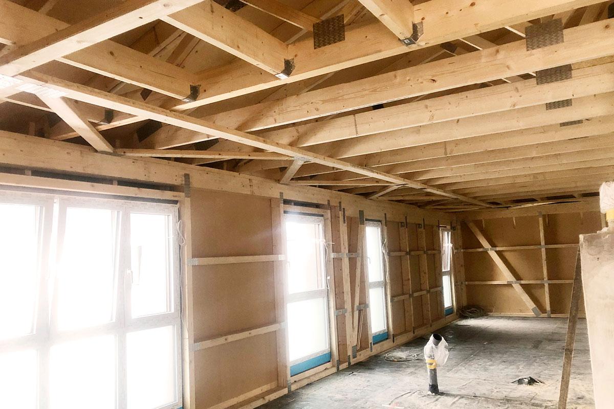 neues dachgeschoss mit walmdach in giessen