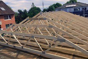 Dachkonstruktion fuer einfache Montage