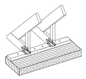 Nagelplattenbinder – Sparrenfußverbinder für Studiobinder