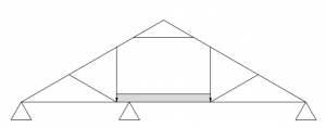 Nagelplattenbinder – Trockenbodenbinder mit tragender Innenwand